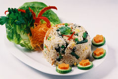 Thai Food. Spicy fried rice cook in green chilli paste.asian brunch cook cooked cooking cuisine culinary delicious dish eat eating entree feed food foods garnish stock image
