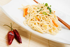 Thai food. With dried chili peppers Royalty Free Stock Image