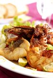 Thai Food. Shrimp with chilli burn Thai food style royalty free stock photography