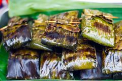 Thai food. Thai street food ready to cook royalty free stock images