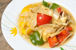 Thai food. Sweet and sour stir fry Royalty Free Stock Photography