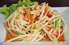 Thai food. Thai style papaya salad or Somtam Royalty Free Stock Images