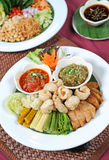 Thai food. Close up on plate Royalty Free Stock Image