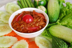 Thai Food. Image of Thai food, thai sauce with vegetable Stock Images