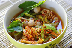 Thai food. Thai pork curry sweet and spicy Stock Image