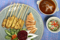 Thai food. Pork grill with curry thai style Royalty Free Stock Photography