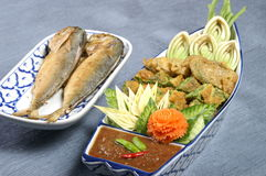 Thai food. Num prik pra too thai food Royalty Free Stock Photography