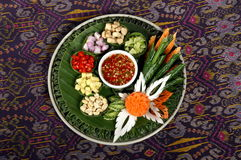 Thai food. Thai style apertizer with herb Royalty Free Stock Image