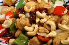 Thai food. Fried chicken and cashew nut Stock Photo