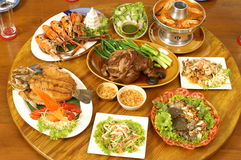 Thai food. Set for a party Royalty Free Stock Photos
