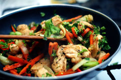 Thai food. Delicious Thai food - Stir fry stock image