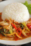 Thai food. Delicious food and popula in thailand Royalty Free Stock Photos