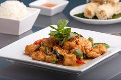 Thai Food And Jasmine Rice Stock Photo