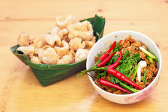 Thai Food appetizer ,Nam Prik Aong ,Thai Northern Style Pork and Stock Photo