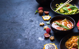 Thai food background Royalty Free Stock Images