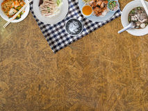 Thai food background. Thai food background with empty space for copyspace Stock Images
