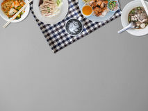 Thai food background. Thai food background with empty space for copyspace Royalty Free Stock Photography