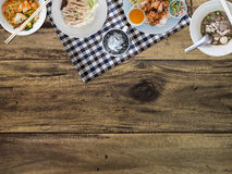 Thai food background. Thai food background with empty space for copyspace Stock Photography