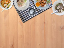 Thai food background. Thai food background with empty space for copyspace royalty free stock images