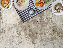 Thai food background. Thai food background with empty space for copyspace stock image