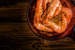 Thai Food Background / Thai Food / Thai Food Shrimp with Vermicelli Background Stock Images
