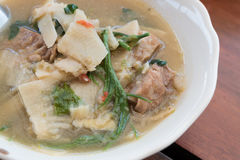 Thai food, bamboo shoot soup northern style curry Stock Photography
