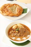 Thai food, Beef massaman curry with roti Stock Image