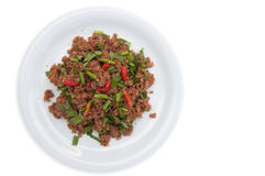 Thai food beef slad Royalty Free Stock Photos