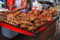 Thai food boiled duck and pig head Stock Images
