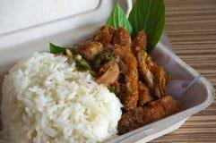 Thai Food in box Royalty Free Stock Photos