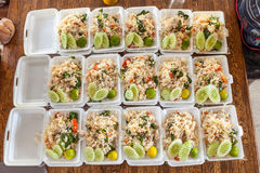 Thai food in box Stock Images