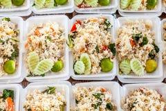 Thai food in box Royalty Free Stock Image