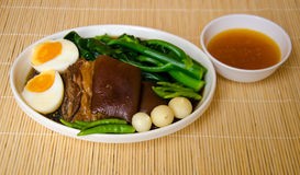 Thai food call KHA MOO Stock Image