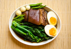 Thai food call KHA MOO Royalty Free Stock Photography