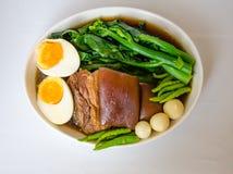Thai food call KHA MOO Royalty Free Stock Image