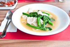 Thai food call RADNA MOO Stock Photo