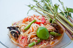 Thai food call SOM TAM Royalty Free Stock Photos