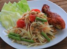 Thai food call SOMTAM Royalty Free Stock Photo