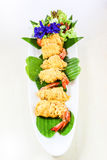Thai food called  Shrimp rhoom or Shrimp La-tiang Stock Photography