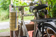 Thai food carrier and old bicycle Royalty Free Stock Image