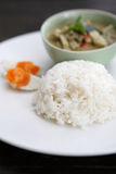 Thai food chicken green curry Stock Photography