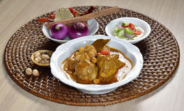 Thai food  chicken mussaman curry Royalty Free Stock Photo