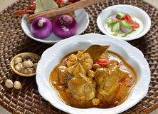 Thai food  chicken mussaman curry Royalty Free Stock Photos