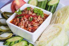 Thai food, Chili paste Stock Photos