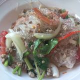 Thai food. Clear noodle spicy salad Royalty Free Stock Photo