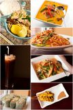 Thai Food Collage Royalty Free Stock Photography