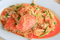 Thai food - crab Stock Photography