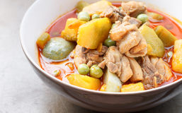 Thai food - curry chicken with pumpkin Stock Photo