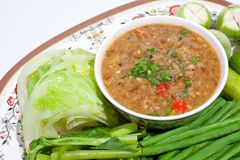 Thai food. Curry cooked vegetables. Royalty Free Stock Image