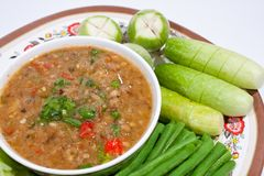 Thai food. Curry cooked vegetables. Stock Image